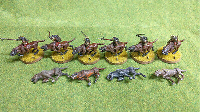 Warhammer Games Workshop LOTR Lord of the Rings Warg Riders and Wargs - Plastic