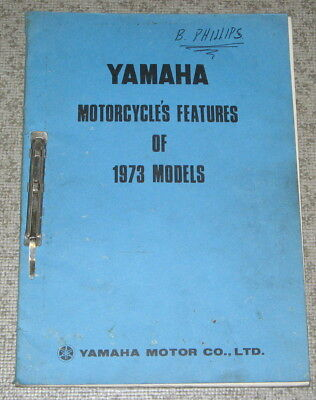 Official YAMAHA Motorcycles Features 1973 Models SPECIFICATIONS Service Data