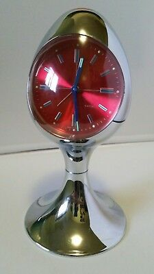 KANDEL Collectable vintage / retro, egg, wind up alarm clock 1970 - West Germany