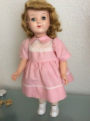 "Vintage Antique Wanda The Walking Doll 18"" - Hard Plastic -  1950's"