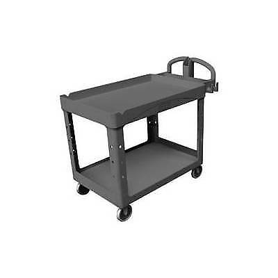 Rubbermaid FG4520-88BLA Heavy-Duty Utility/Service Cart (Black)
