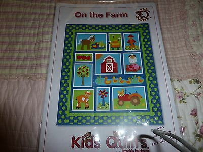 Kids Quilts On the Farm - applique and pieced pattern