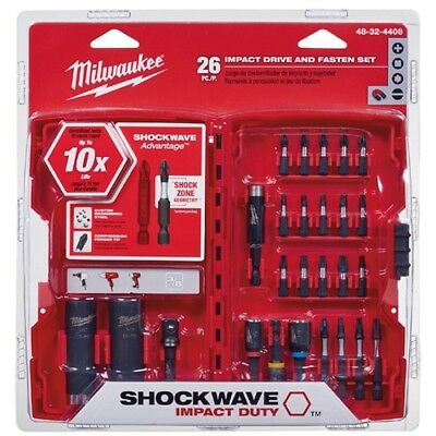 Milwaukee 48-32-4408 26 Piece Shockwave Impact Drive and Bit Set