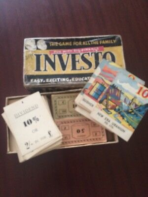 Vintage Retro Collectable Game Investo Australian Game Complete