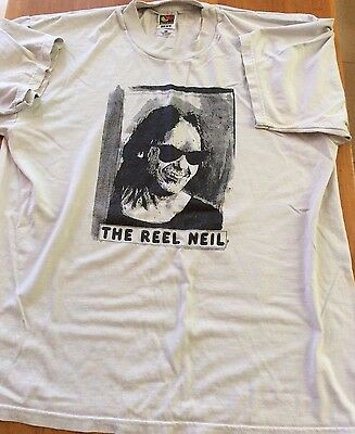 VINTAGE NEIL YOUNG The Reel Neil T Shirt Size XL - RARE