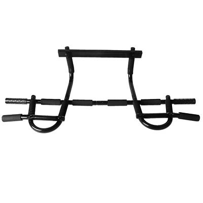 Chin Pull Up Bar Mounted Doorway Build Muscles Fitness Workout Home/Gym J6U9