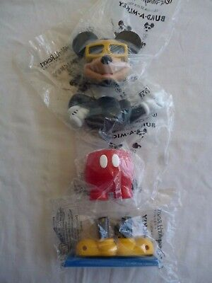 Disney Mickey Mouse Build-A-Mickey  McDonald`s Happy meal Toys 1999 Complete set