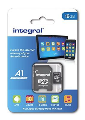 Integral INMSDH16G10-A1 A1, memory card performance app, microSDHC/XC UHS-I  16