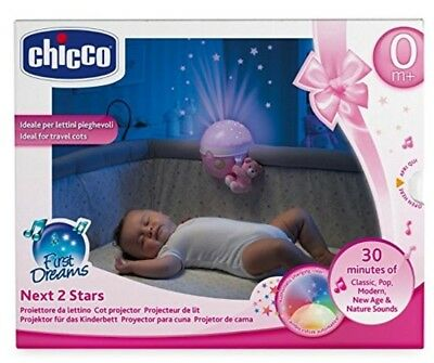 Chicco Next 2 Stars Projector Baby Night Light and Soothing Music Pink Free PP