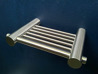 SOAP HOLDER DISH SOLID SATIN STAINLESS STEEL for SHOWERS BASINS NEW
