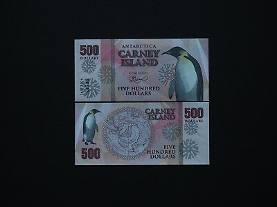 Antarctica Carney Islands Attractive  $500  Art Notes   * Mint Unc *