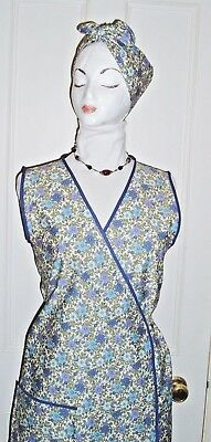 Vintage Retro Wwii/1940S Fancy Dress Apron + Scarf - 2 Sizes 10/14 Or 16/20