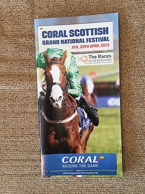 Scottidh Grand National Racecard.2013..good Condition...free Postage