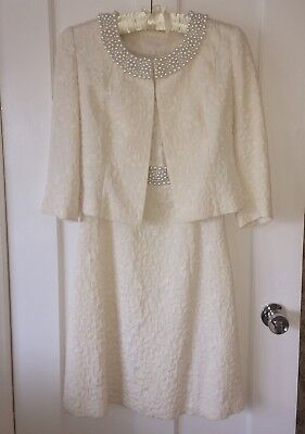 Stunning WeddingDress and jacket/suit Mother Of The Bride races size 8