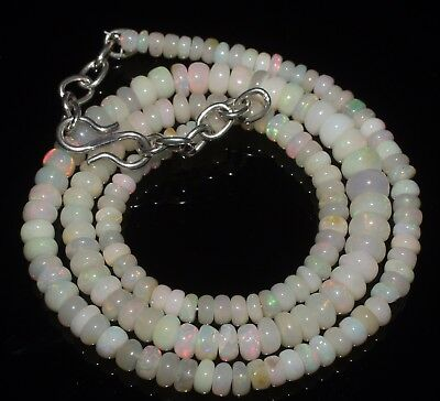 52 Ctw 3-5 Mm 16 Natural Genuine Ethiopian Welo Fire Opal Beads Necklace-R6594