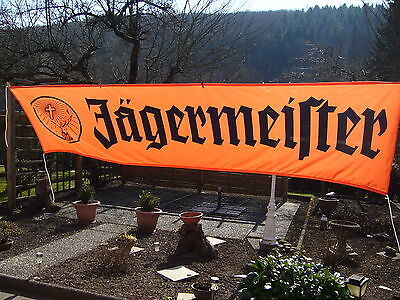 JÄGERMEISTER FAHNE BANNER XXXL .ORANGE 3,20 x 0,80 m TOP!