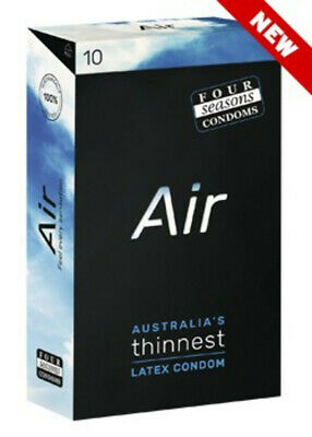 Four Seasons Air 10 Bulk Buy Condoms Thinnest Ultra Thin Sensation Feel Condom