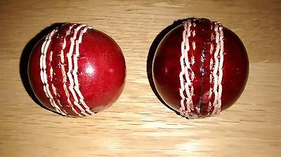 Genuine Red Leather Mini Cricket Balls, Size 35mm Diameter, Only £3 each !