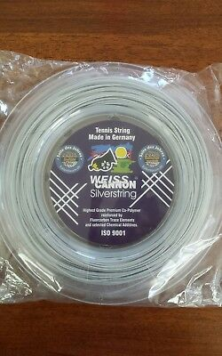 Weiss Cannon SILVERSTRING (1.20mm) Tennis String Reel 200m (660Ft) NEW