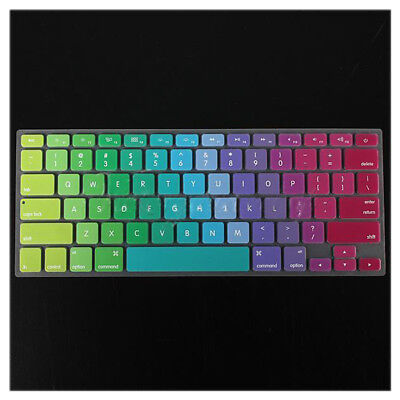US Colorful Silicone Keyboard Cover Skin For Apple Macbook Pro Retina A W4N6