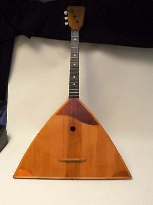 Vintage 1970 Russian 3 String Balalaika Model 205