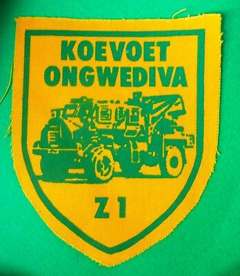 SOUTH WEST AFRICA KOEVOET ZULU -1  vintage AFRICAN ARMOURED VEHICLE PATCH