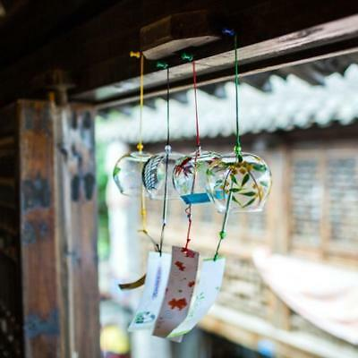 Glass Wind Chime Wind Bell with Japanese style Painting Garden Decoration- PICK