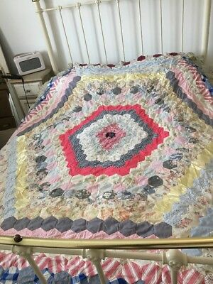 Patchwork Quilt Hand Sewn Needs Finishing