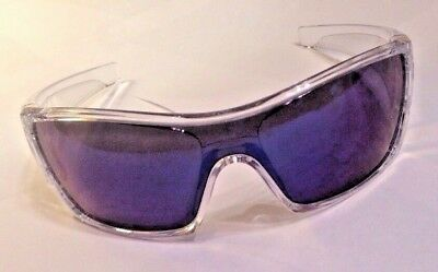 Oakley Batwolf Polished Clear Sunglasses OO9101-07 Ice Iridium Lens New In Box
