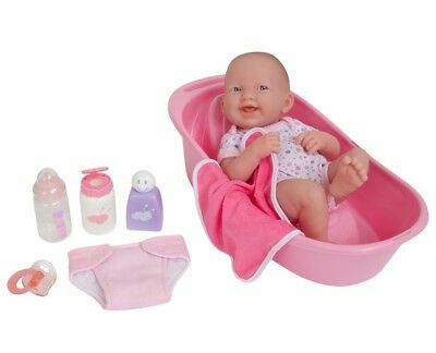 La Newborn Nursery 8 Piece Layette Baby Doll Gift Set WASHABLE MATERIAL Free PP