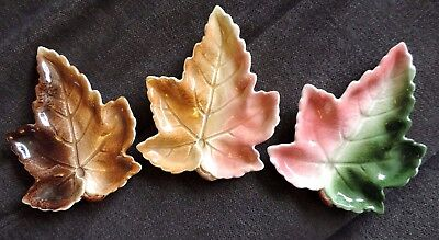 Vintage Royal Winton Leaf Ware Dish Trio Lovely Autumnal Colours, All Different