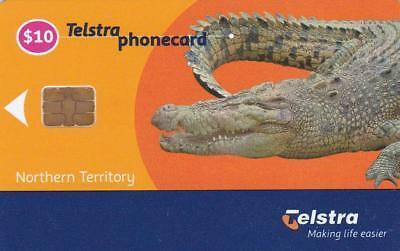 Telstra  Smartcard  $10 Crocidile Northern Territory 30/4 Exp Mint D2