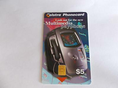 Telstra Multimedia Payphone $5 Mint Perfect D19