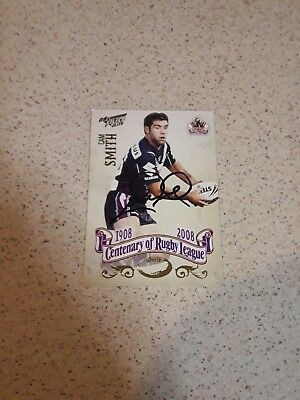 2007 Cameron Smith  Hand Signed Cent Of League Select  Card
