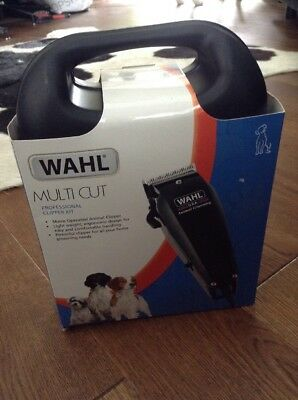 Wahl Multi Cut Mains Dog Clipper Set + Instructions DVD Black