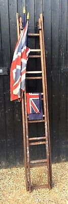 Vintage Patent Safety Ladder Extends To Over 13ft Long Great Prop Display