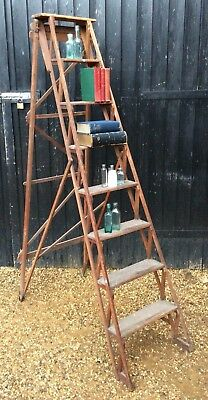 Tall Vintage Hatherley Style Eclipse Lattice Safety Ladders Great Prop Display