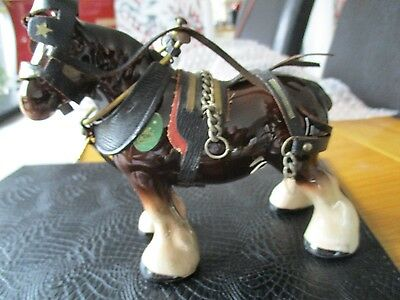 Melbaware. Shire Horse With Reins And Bridles
