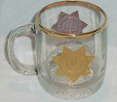 """California Union of Safety Employees Mug Cup CAUSE Glass 3.5"""""""