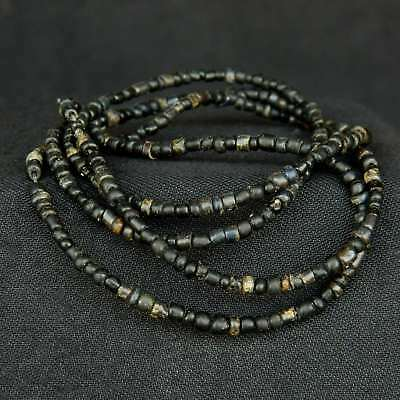 Ancient NILA Glass BEADS - 327 pieces - 73 cm LENGTH - 1000 years old - SAHARA