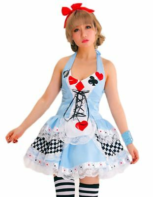 Alice In Wonderland Womens Costume Ladies Sexy Fancy Dress Parties Disney Outfit