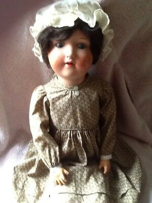 """Large Antique Doll 24"""".  Marked on back of head H.W. Germany....LOOK....!!!..."""