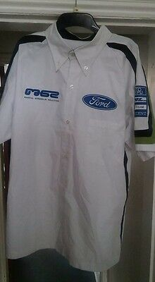 Marcus Gromholm, Embroidered Ford Shirt XL (17 1/2 inch collar)