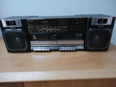 sony cfs w 500 l boombox / ghettoblaster, fully working,