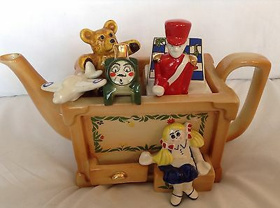Cardew Large Collectable Novelty Teapot Toybox With Soldier,games,grt Condition