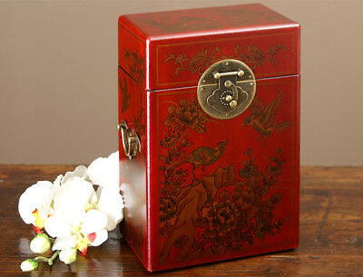 Chinesische Truhe China Schatulle rot gold China Möbel 1030d