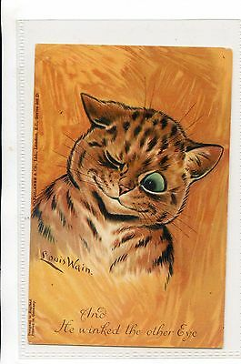 Louis Wain - Faulkner Postcard Cats - And He Winked The Other Eye