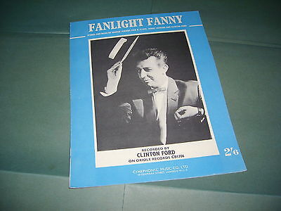 Clinton Ford Fanlight Fanny 1962 UK Sheet Music
