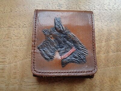 1950's [GeorgeV1] SCOTTISH TERRIER LEATHER MATCH HOLDER