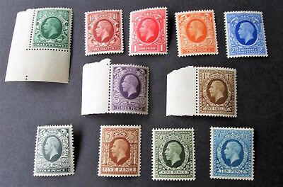 38 -Gb. 1934 - 36 George V Photogravure Set Of 11  - Mint Never Hinged.